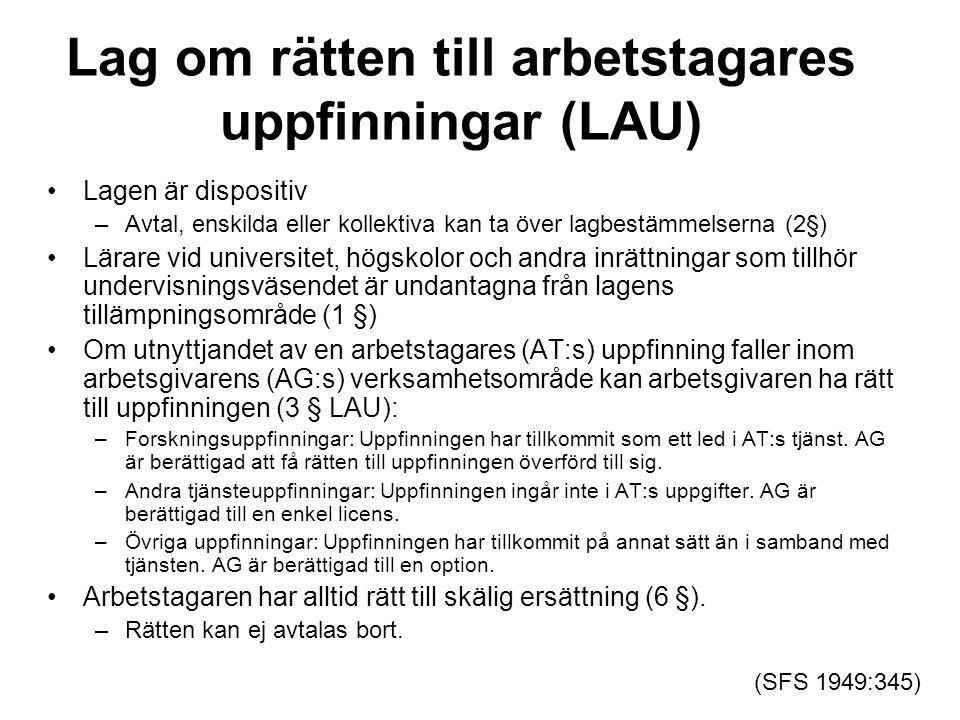 Lag om rätten till arbetstagares uppfinningar (LAU)