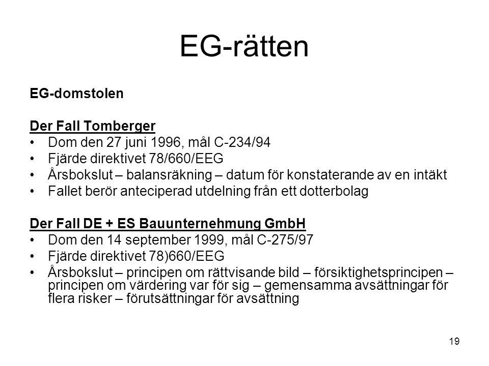 EG-rätten EG-domstolen Der Fall Tomberger