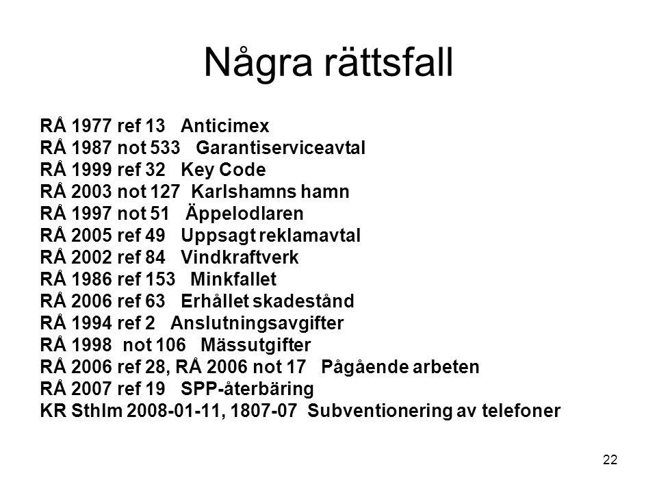 Några rättsfall RÅ 1977 ref 13 Anticimex