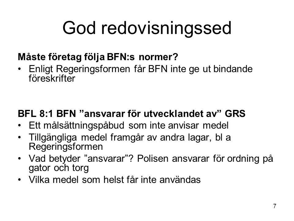 God redovisningssed Måste företag följa BFN:s normer