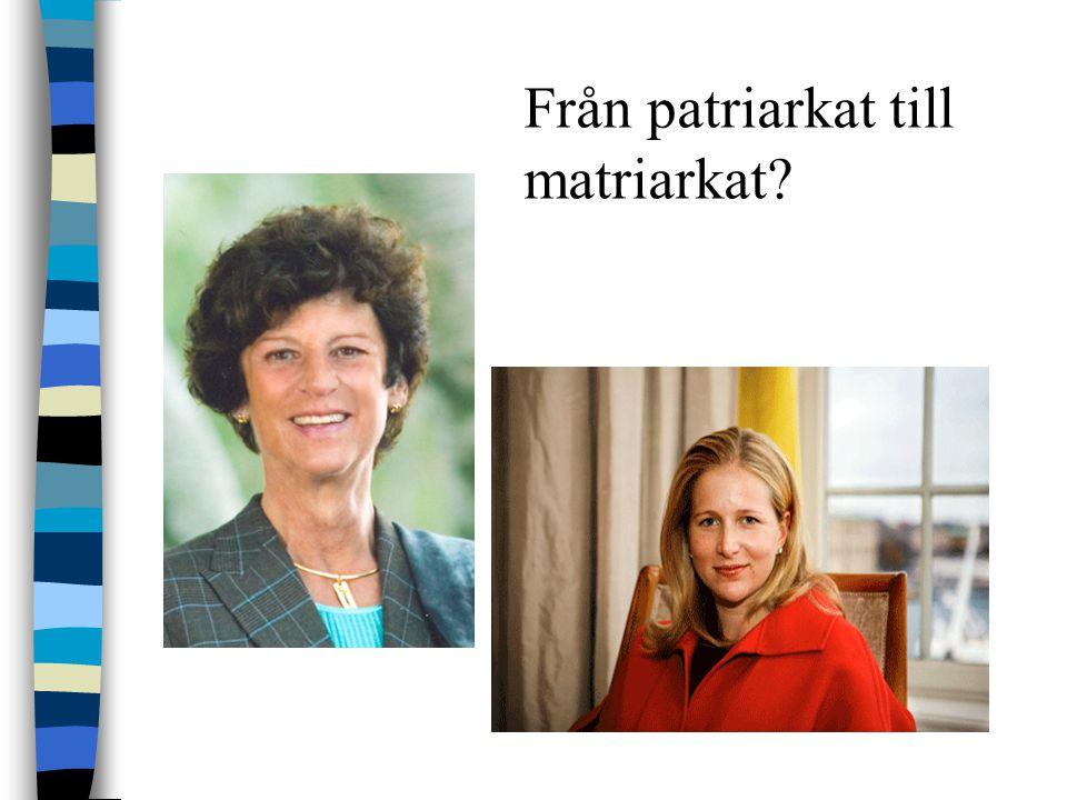Från patriarkat till matriarkat