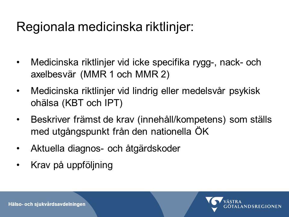 Regionala medicinska riktlinjer: