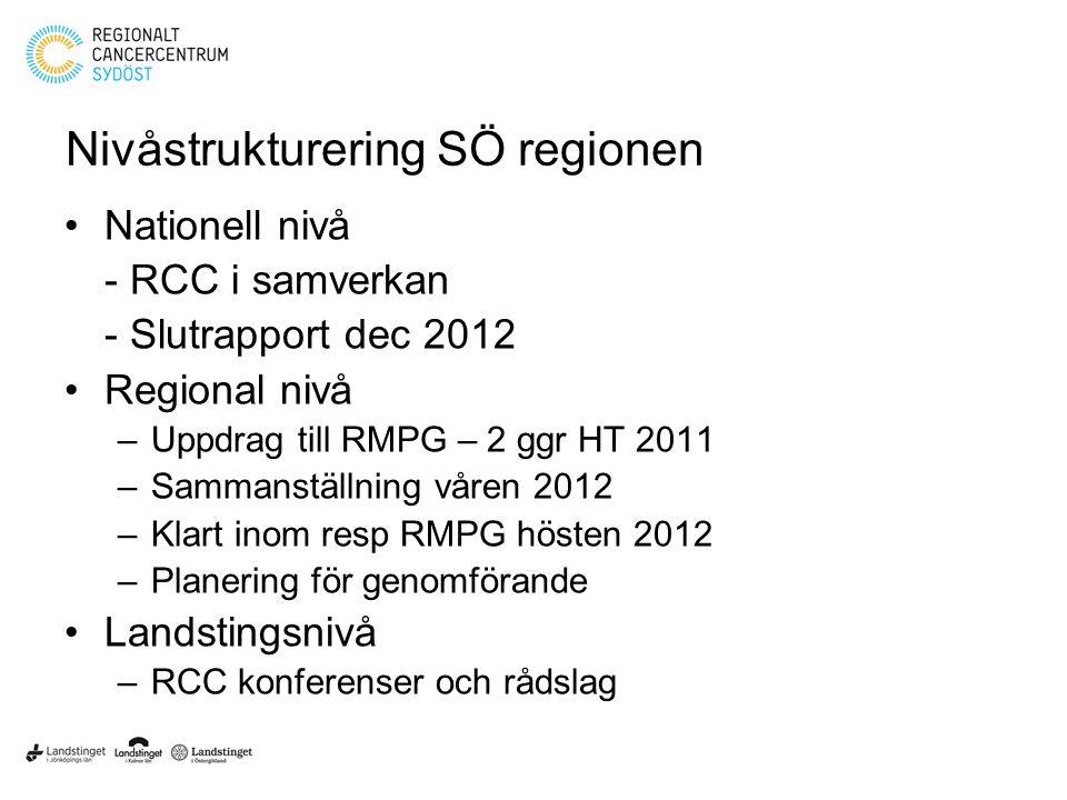 Nivåstrukturering SÖ regionen
