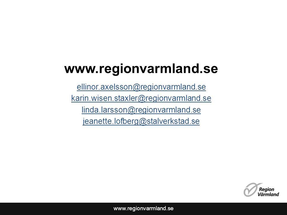 www.regionvarmland.se ellinor.axelsson@regionvarmland.se