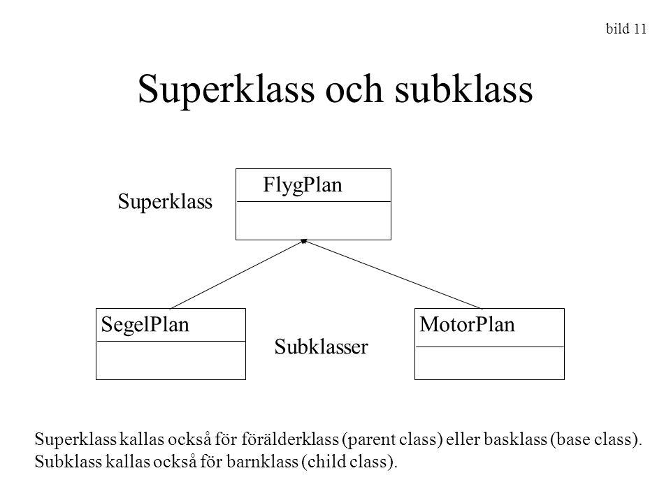 Superklass och subklass