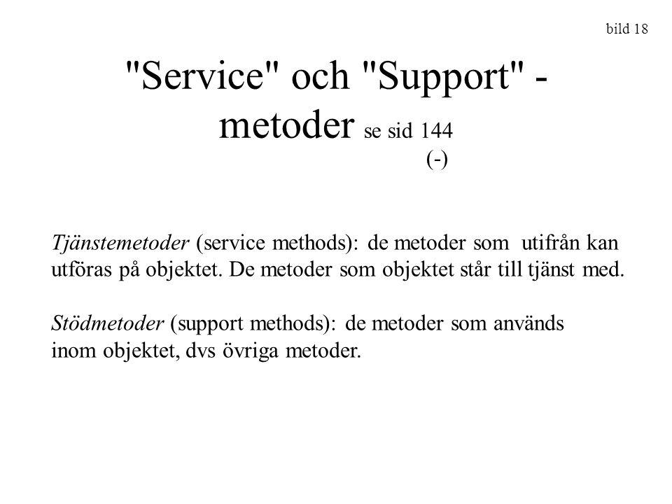 Service och Support - metoder se sid 144