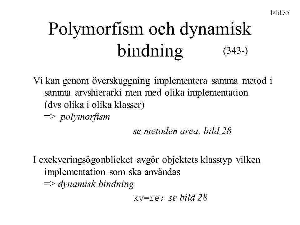 Polymorfism och dynamisk bindning