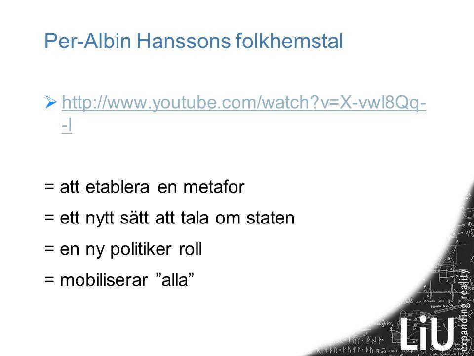 Per-Albin Hanssons folkhemstal