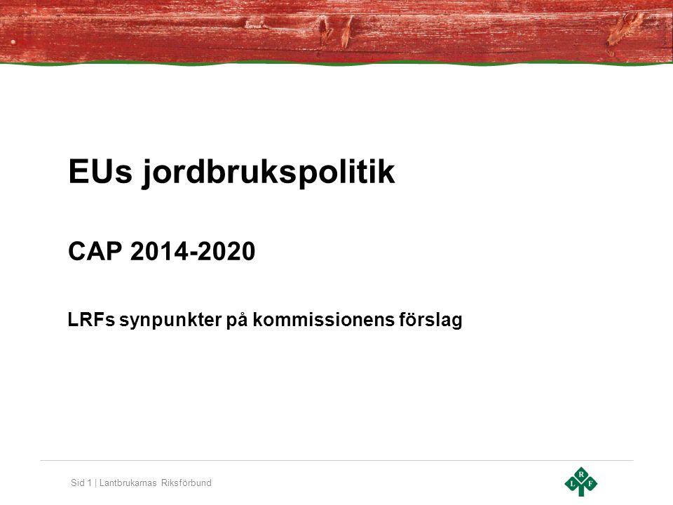 EUs jordbrukspolitik CAP 2014-2020