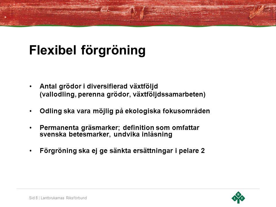 Flexibel förgröning Antal grödor i diversifierad växtföljd