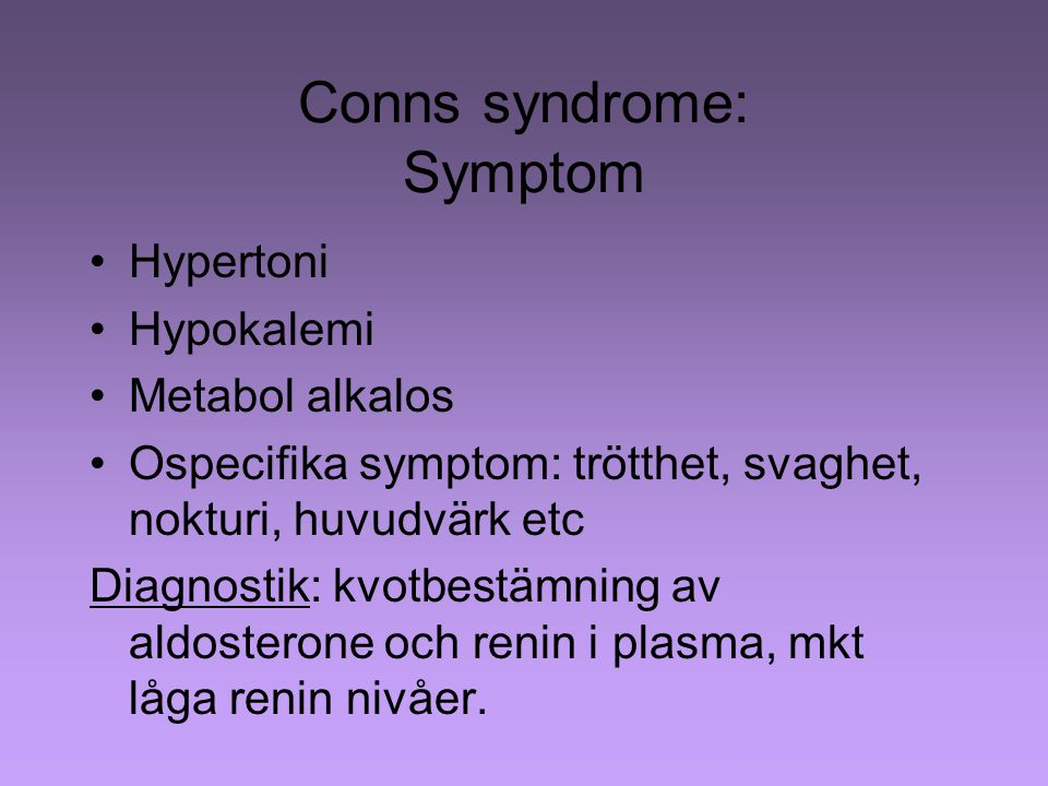 Conns syndrome: Symptom