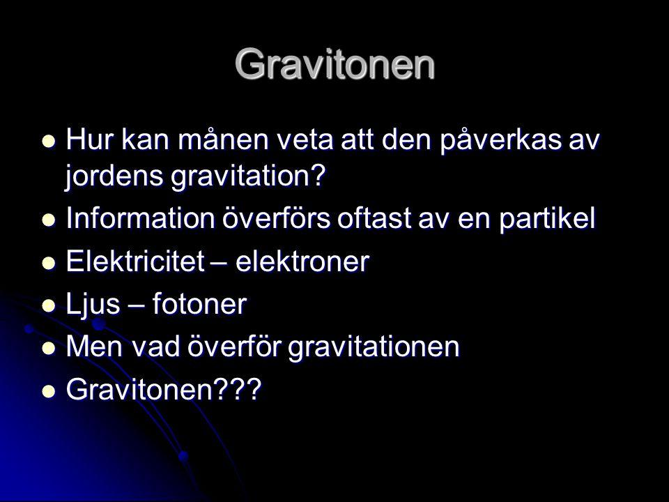 Gravitonen Hur kan månen veta att den påverkas av jordens gravitation