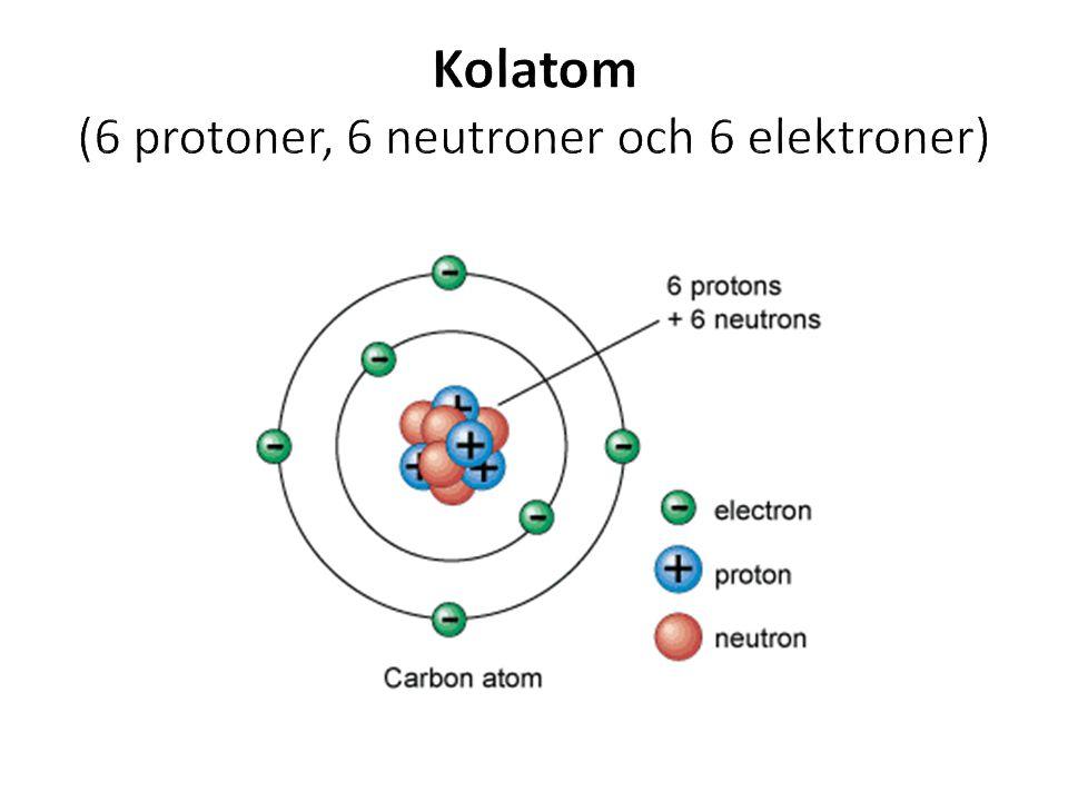 Kolatom (6 protoner, 6 neutroner och 6 elektroner)