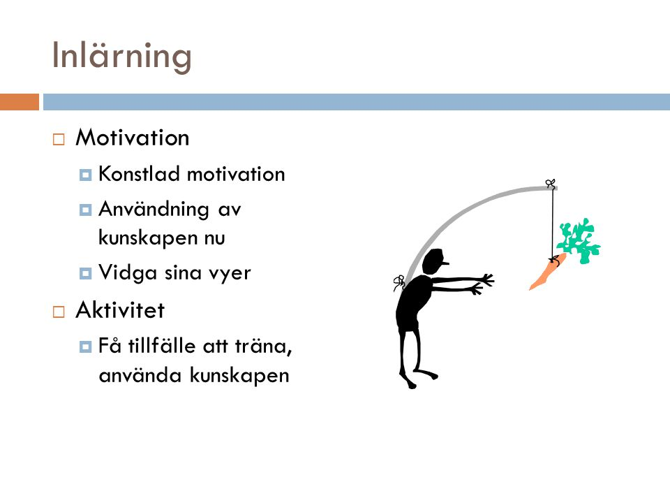 Inlärning Motivation Aktivitet Konstlad motivation