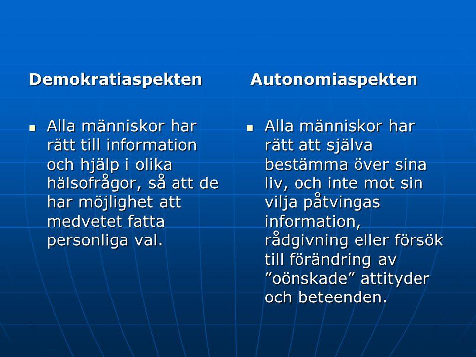 Autonomiaspekten Demokratiaspekten.