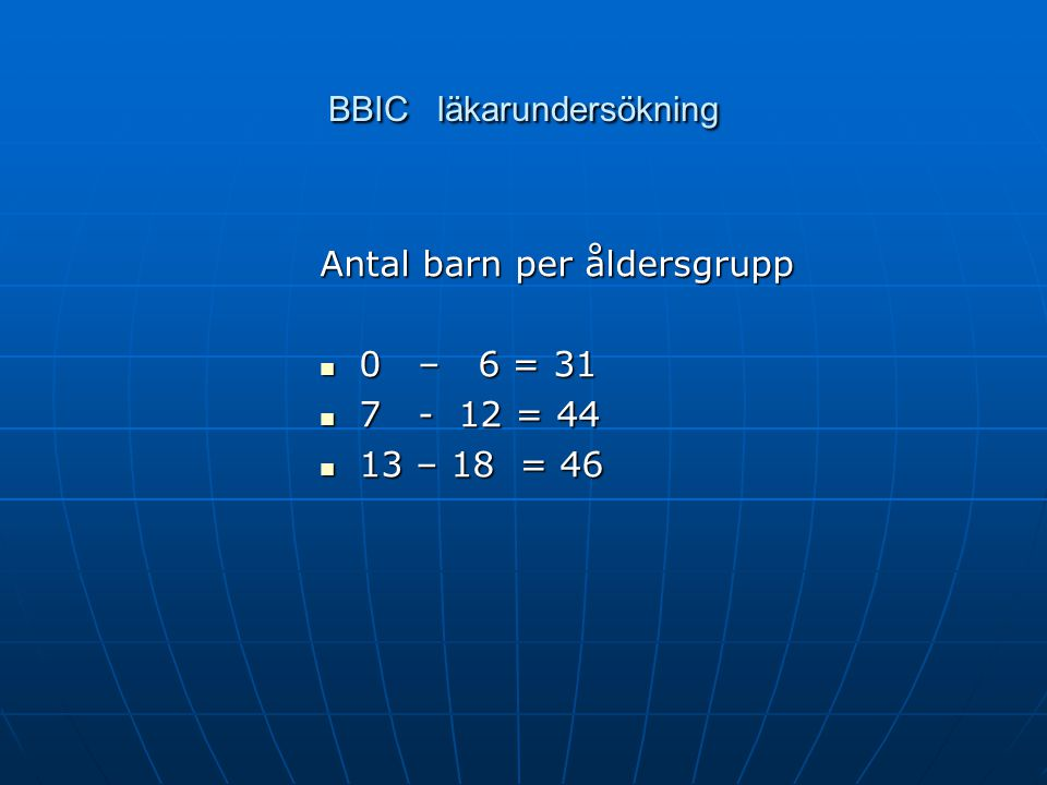 BBIC läkarundersökning