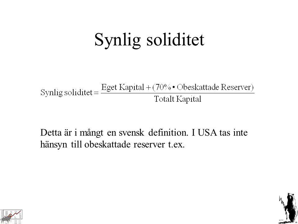 Synlig soliditet Detta är i mångt en svensk definition.