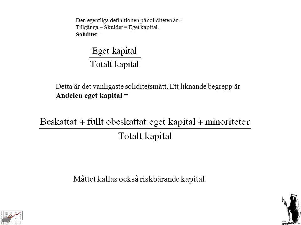 Måttet kallas också riskbärande kapital.