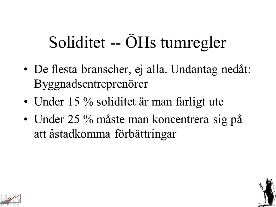 Soliditet -- ÖHs tumregler
