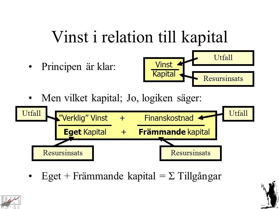 Vinst i relation till kapital