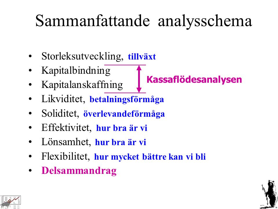 Sammanfattande analysschema