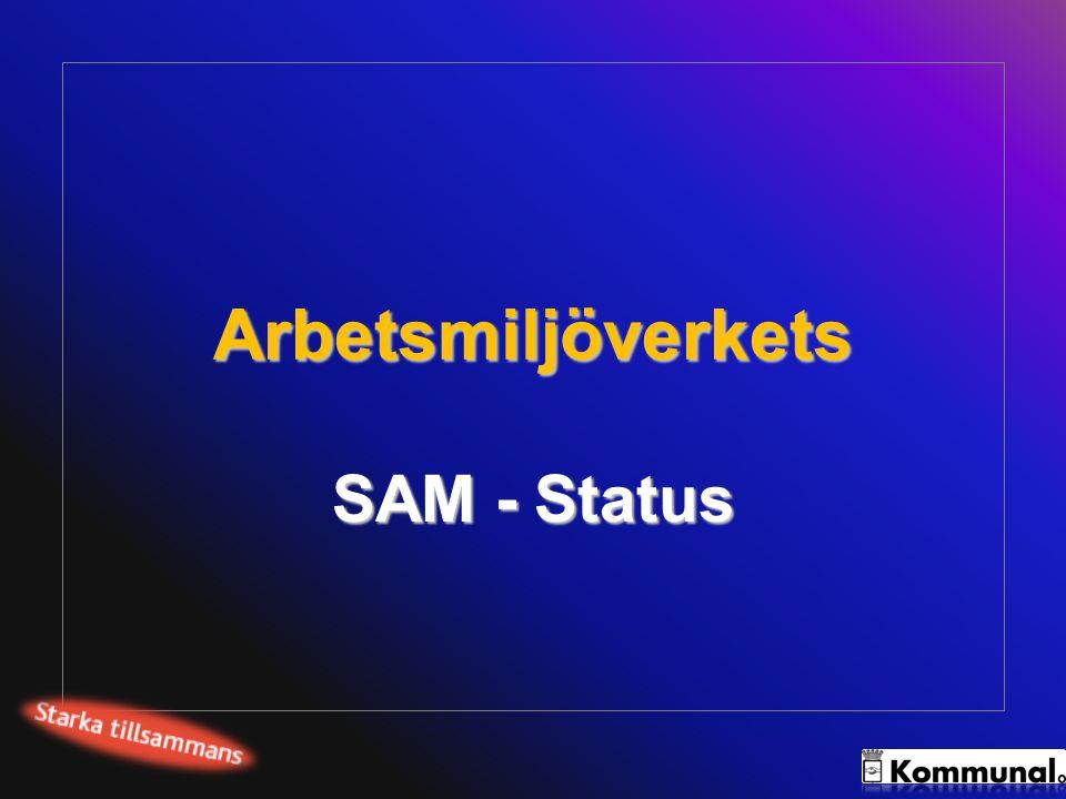 Arbetsmiljöverkets SAM - Status