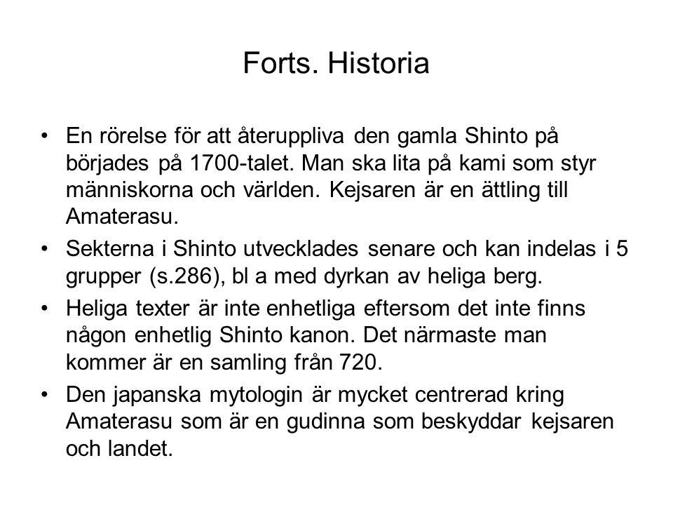 Forts. Historia