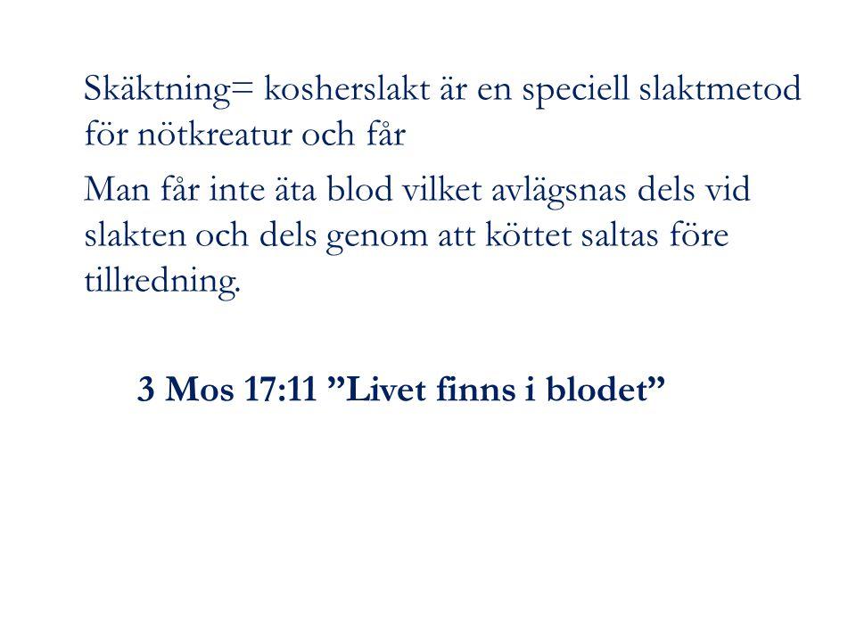 Skäktning= kosherslakt är en speciell slaktmetod för nötkreatur och får