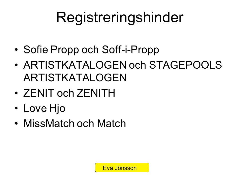 Registreringshinder Sofie Propp och Soff-i-Propp