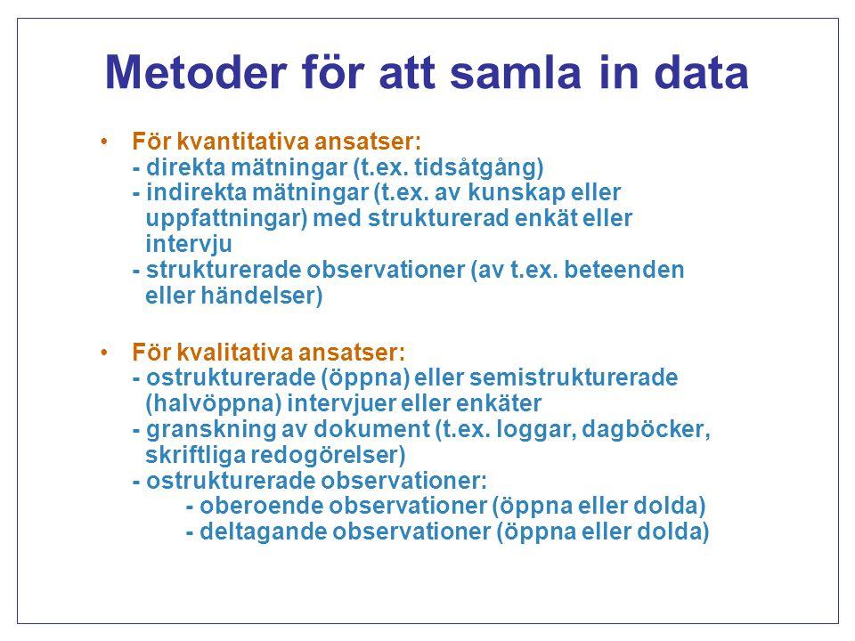 Metoder för att samla in data