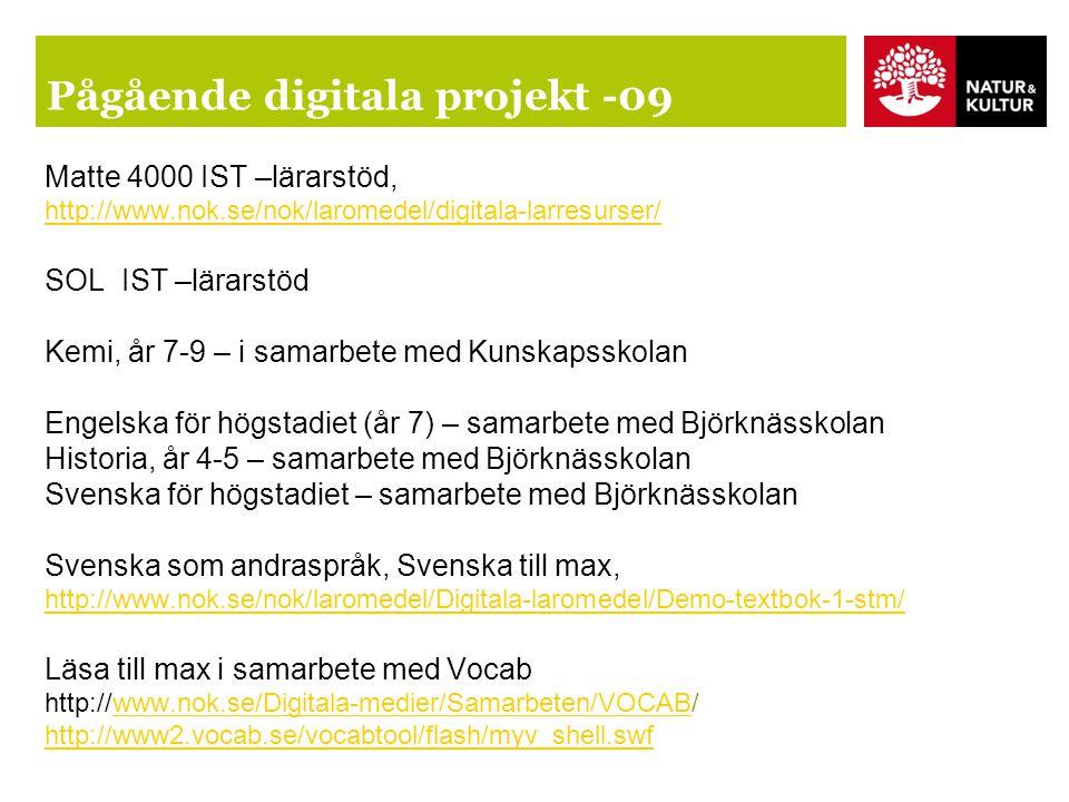 Pågående digitala projekt -09