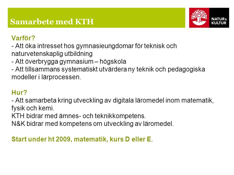 Samarbete med KTH