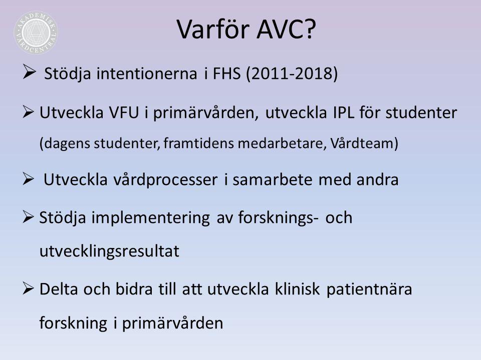 Varför AVC Stödja intentionerna i FHS (2011-2018)