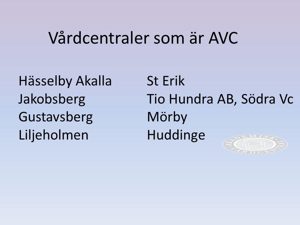 Vårdcentraler som är AVC