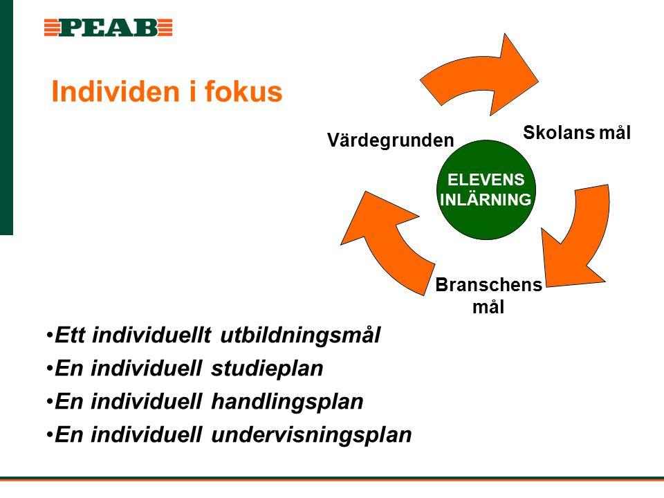 Individen i fokus Ett individuellt utbildningsmål