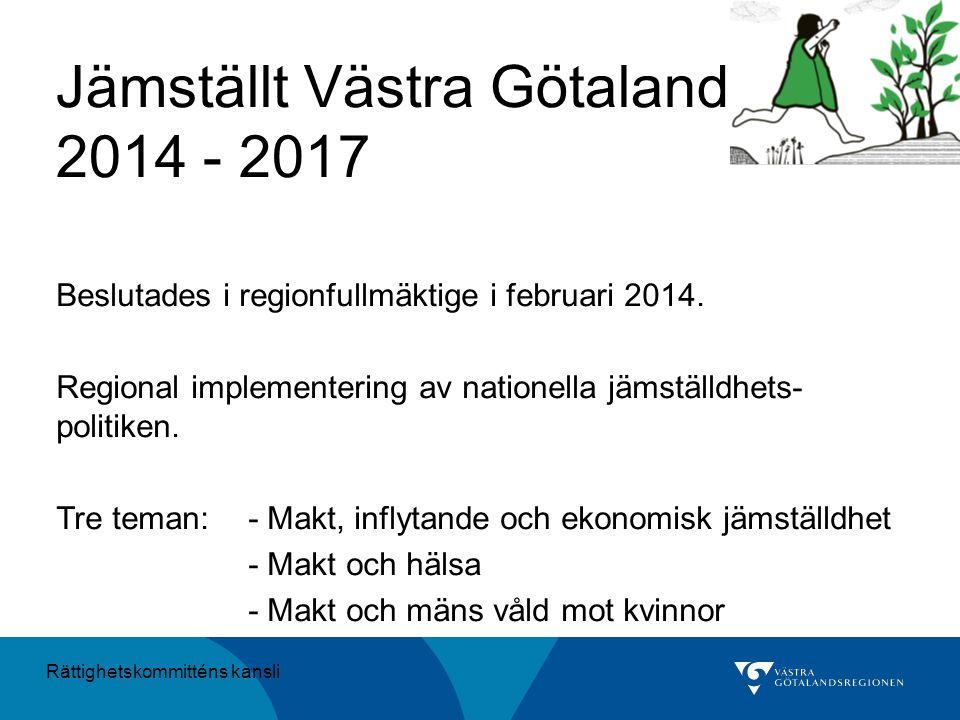Jämställt Västra Götaland 2014 - 2017
