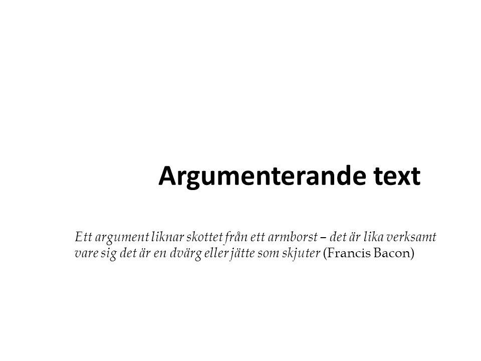 Argumenterande text