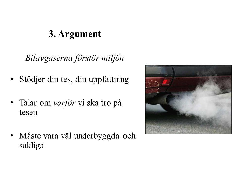 Bilavgaserna förstör miljön