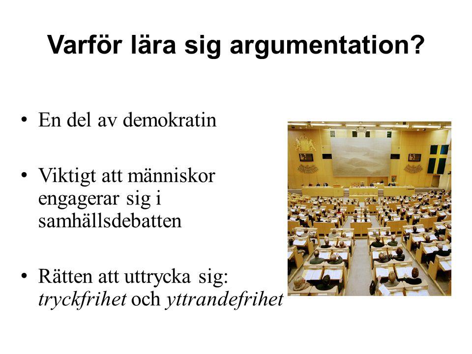 Varför lära sig argumentation