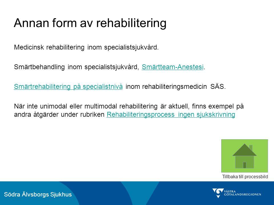 Annan form av rehabilitering