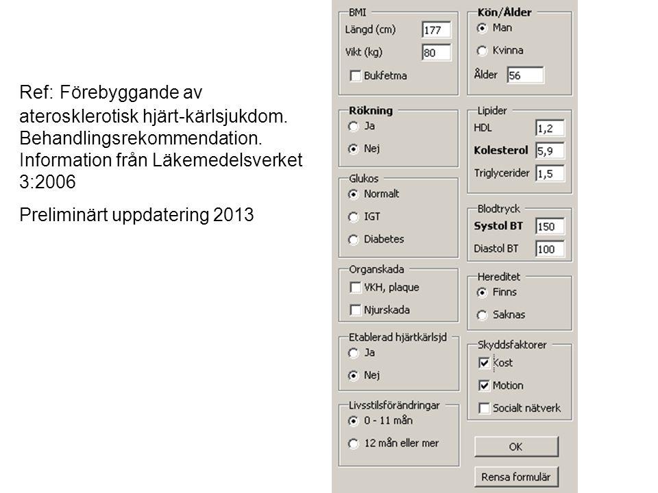 Preliminärt uppdatering 2013