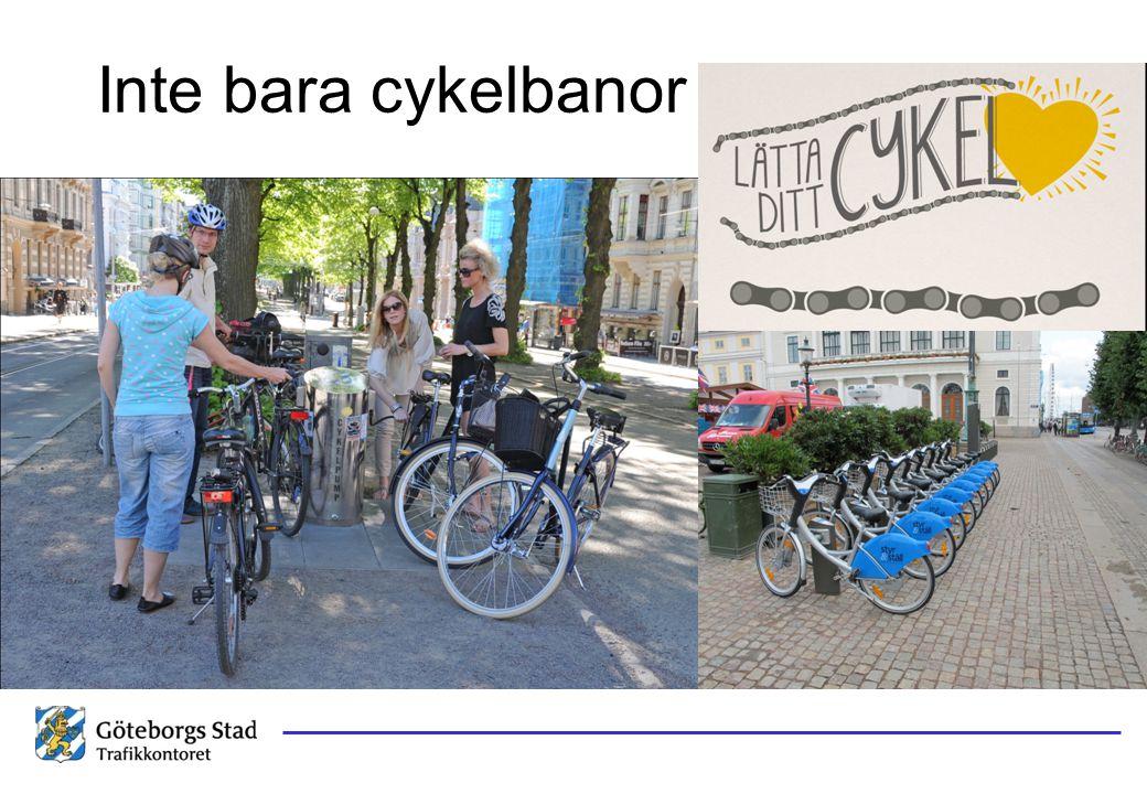 Inte bara cykelbanor