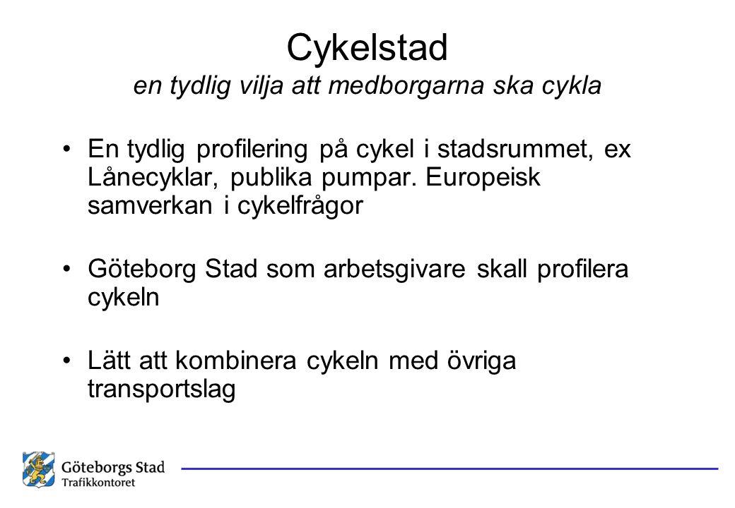 Cykelstad en tydlig vilja att medborgarna ska cykla