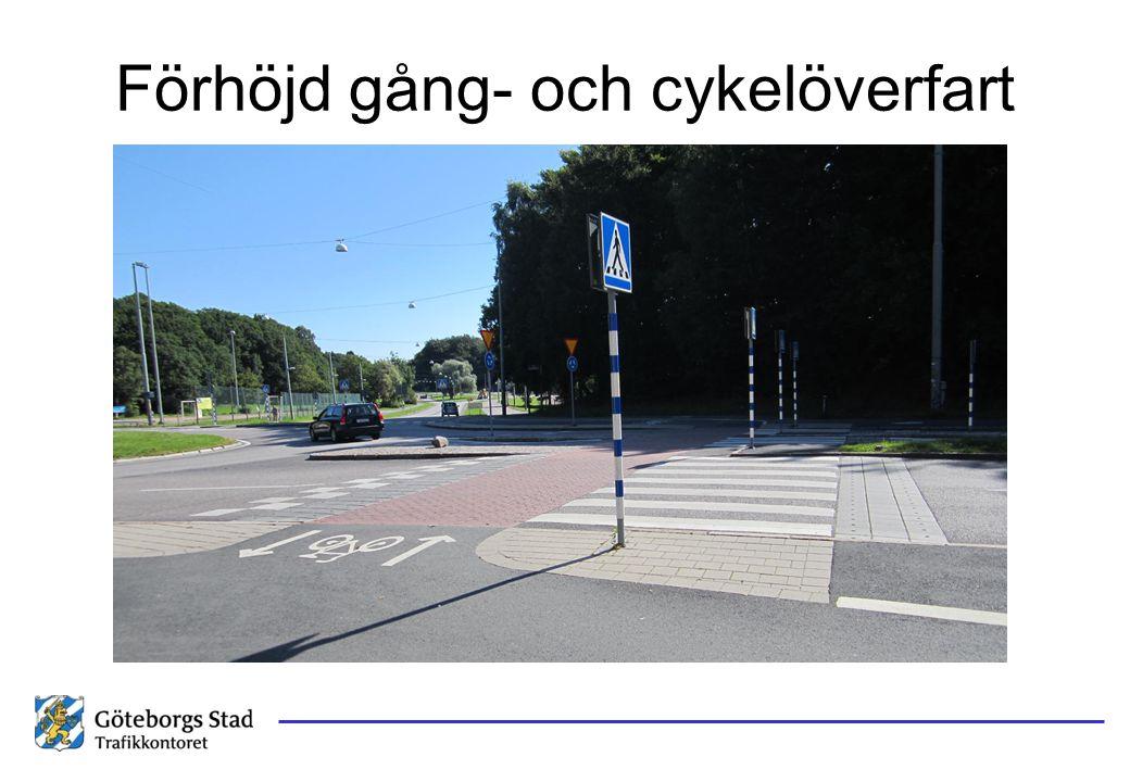 Förhöjd gång- och cykelöverfart