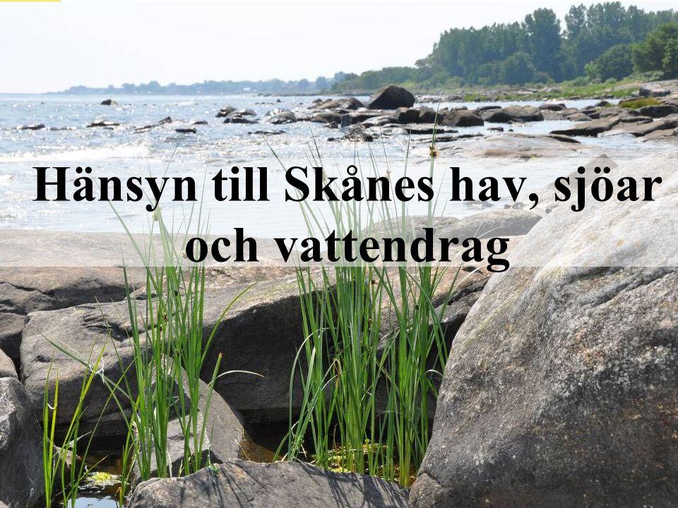 Hänsyn till Skånes hav, sjöar och vattendrag