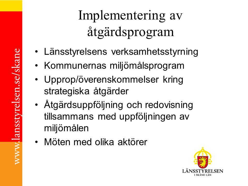 Implementering av åtgärdsprogram
