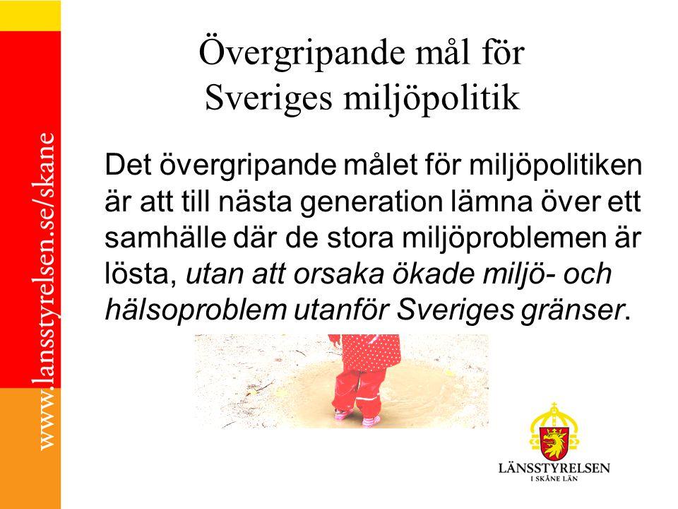 Övergripande mål för Sveriges miljöpolitik