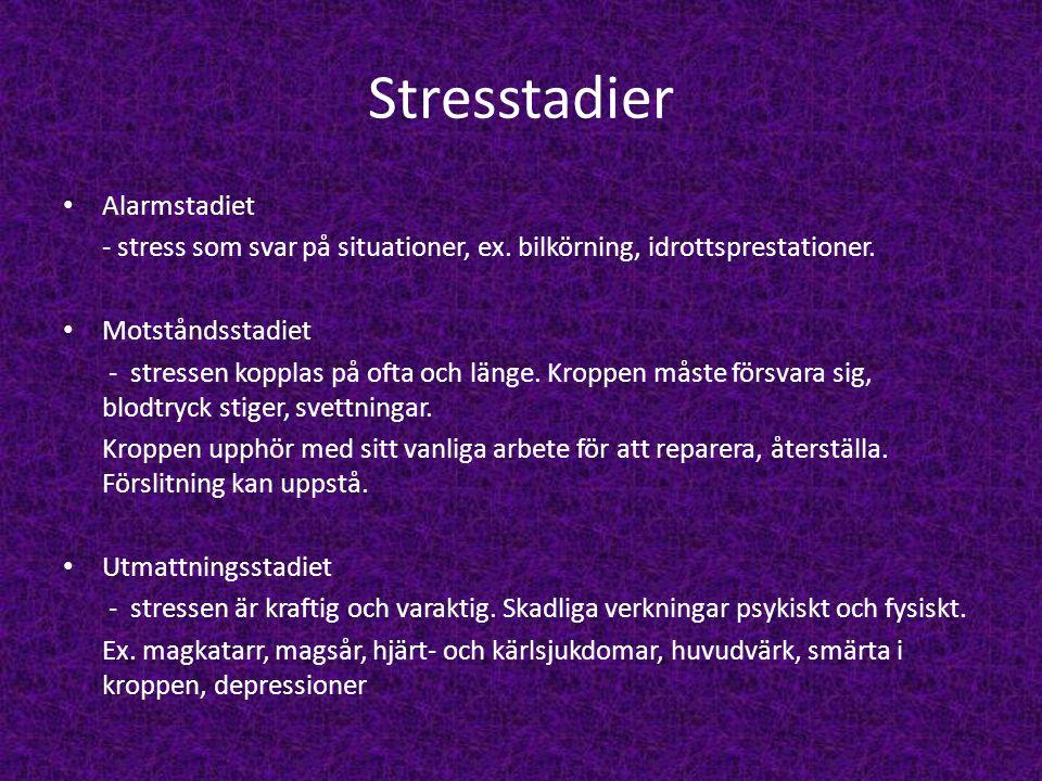 Stresstadier Alarmstadiet