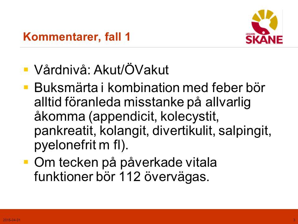 Vårdnivå: Akut/ÖVakut