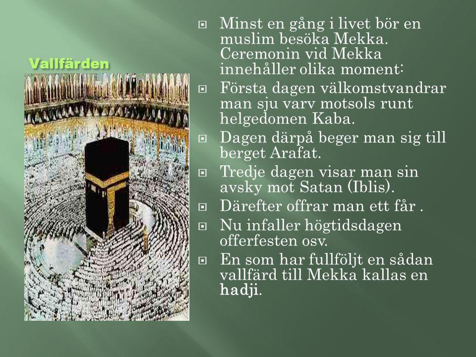 Dagen därpå beger man sig till berget Arafat.